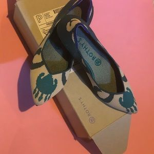 ROTHYS Moroccan Green pointed toe flats